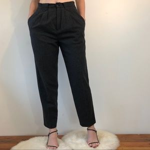 Vtg high-waisted grey trousers